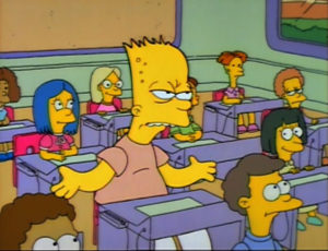 simpsons-season-2-1-bart-gets-an-f-repeats-4th-grade-old-review-episode-guide-list